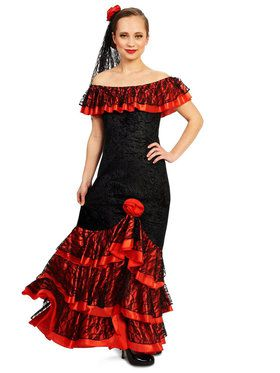 Adult Senorita Princess Elite Costume For Adults