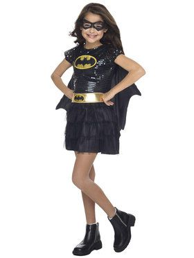 Sequin Batgirl Costume For Toddlers