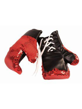 Sequin Boxing Gloves Red
