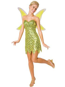 Sequin Deluxe Tinker Bell Costume For Adults