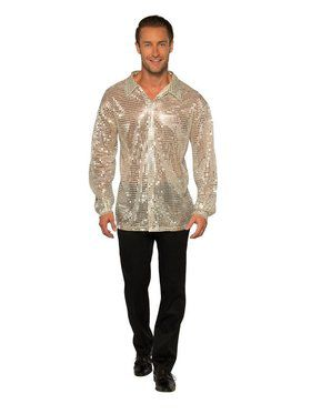 Silver Sequin Disco Shirt