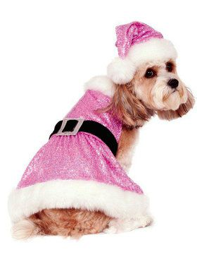 Sequin Mrs. Claus Costume for Pets