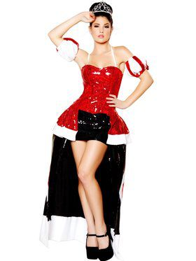 Sequin Queen of Hearts Deluxe Costume