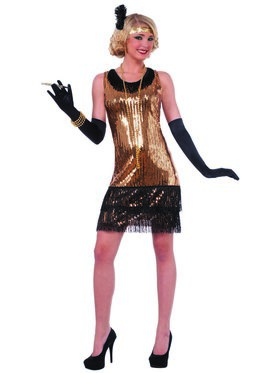 Sequin Ritzy Glitzy Flapper Adult Costume