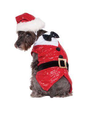 Sequin Santa Outfit Costume for Pets
