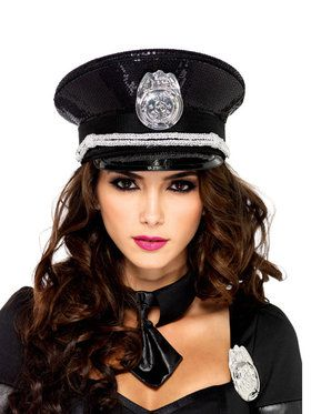Sequin Sexy Cop Hat