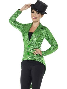 Sequin Tailcoat Jacket For Adults