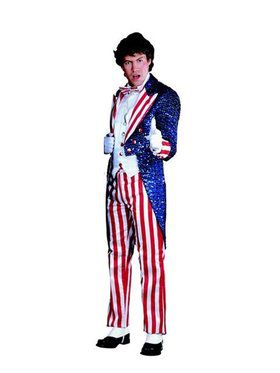Sequin Uncle Sam Adult Costume