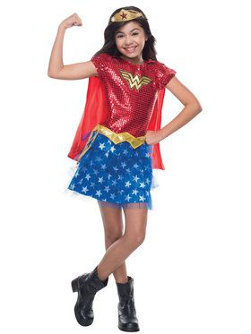 Sequin Wonder Woman Costume For Toddlers