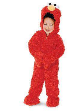 Sesame Street Elmo Plush Deluxe Costume For Toddlers