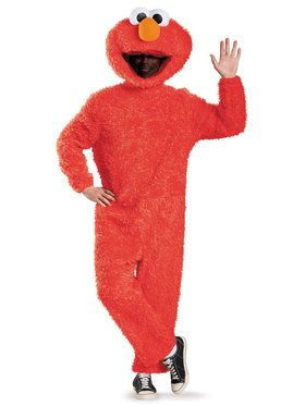 Plus Size Sesame Street Elmo Plush Prestige Costume For Adults