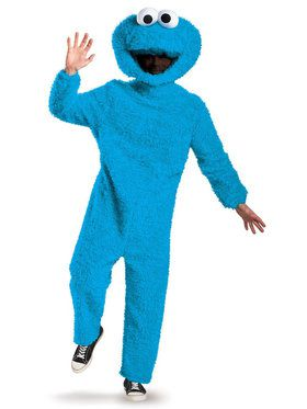 Adult Prestige Cookie Monster Plush Sesame Street Costume