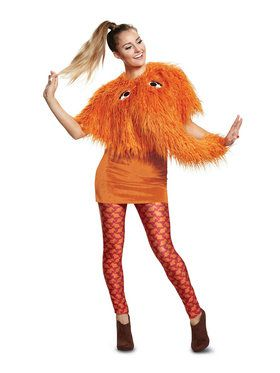 Deluxe Sesame Street Snuffy Costume for Ladies