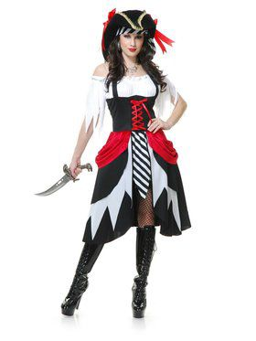 Women's Seven Seas Pirate Lady Costume