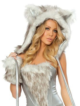 Sexy Adult Wolf Hood