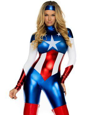 Sexy American Beauty Women's Jumpsuit Costume