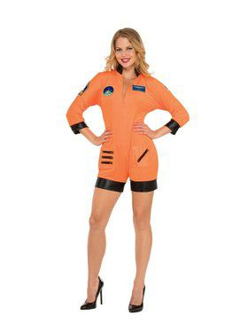 Sexy Orange Astronaut Women's Costume