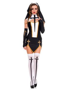 Sexy Bad Habit Nun Womens Costume