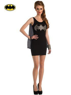 Sexy Batgirl Rhinestone Tank Dress Womens Costume