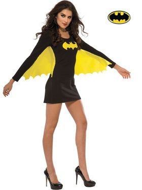 Sexy Batgirl Wing Dress Costume For Adults