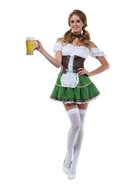 Sexy Classic Beer Girl Costume