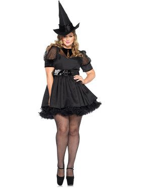 Sexy Bewitching Witch Plus Women's Costume
