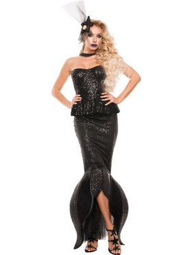 Sexy Black Mermaid Womens Costume