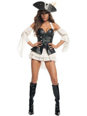 Sexy Black Pearl Pirate Adult Costume