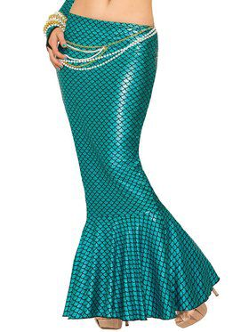 Sexy Blue Mermaid Skirt Womens Costume