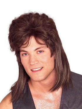 Sexy Brown Mullet Wig