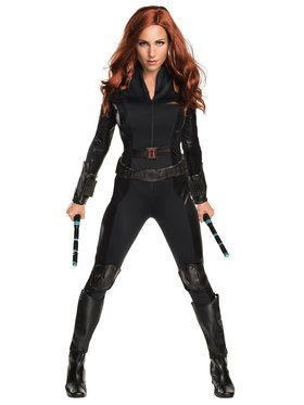 Sexy Captain America Civil War Deluxe Black Widow Sexy Women's Costume