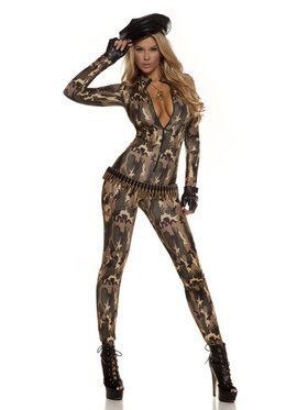 Sexy Charming Cadet Catsuit Womens Costume