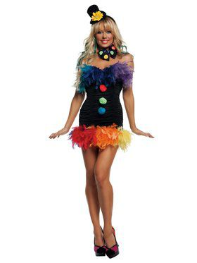 Sexy Clownin' Around Clown Adult Costume