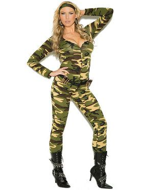 Sexy Combat Warrior Plus Women's Costume