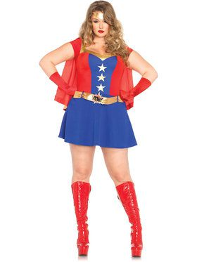 Sexy Comic Book Girl Plus Women's Costume