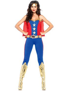 Sexy Comic Book Hero Women's Costume
