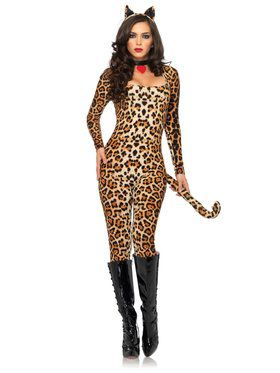 Sexy Cougar Catsuit Adult Costume