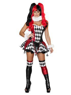 Sexy Court Jester Cutie Deluxe Adult Costume