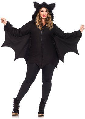 Sexy Cozy Bat Plus Women's Costume