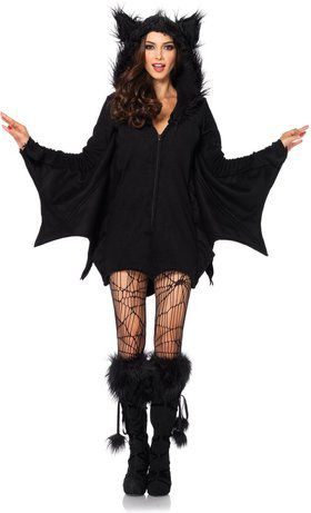 Sexy Cozy Bat Women's Costume