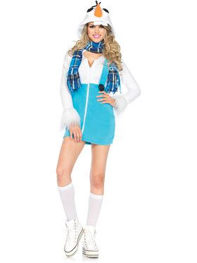 Sexy Cozy Snowman Women's Costume