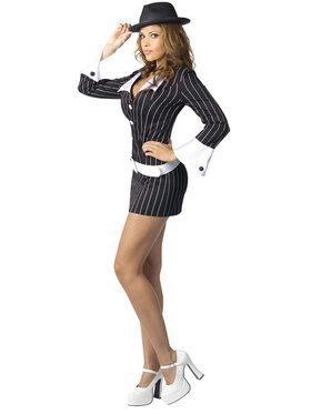 Sexy Criminal Mischief Gangster Costume
