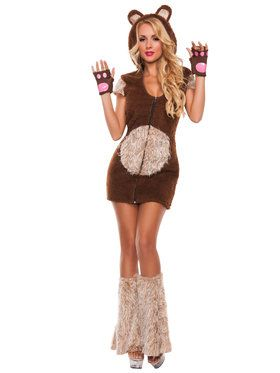 Sexy Cuddle Me Bear Womens Costume