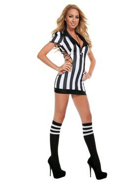 Sexy Cut-Out Referee Adult Costume