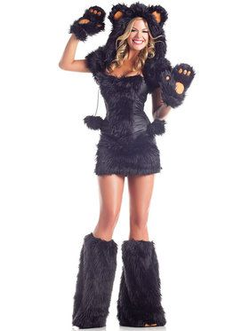 Sexy Cute Black Bear Women's Costume