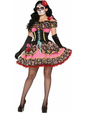 Sexy Day of the Dead Senorita Womens Costume