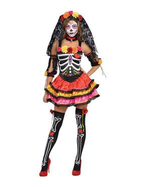 Day of the Dead Ladies Senorita Costume