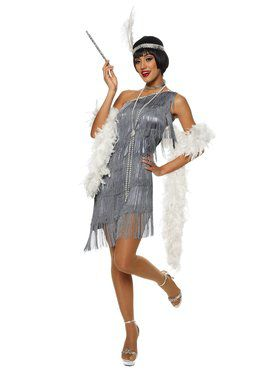 Sexy Dazzling Flapper Adult Costume