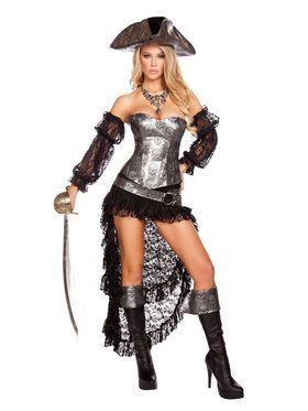 Sexy Deadly Pirate Captain Womens Costume