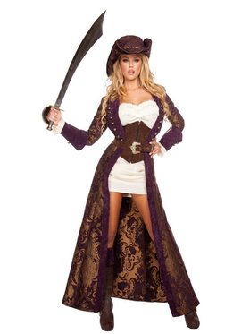 Sexy Decadent Pirate Diva Womens Costume